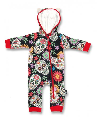 Six Bunnies SUGAR SKULLS Baby Playsuit