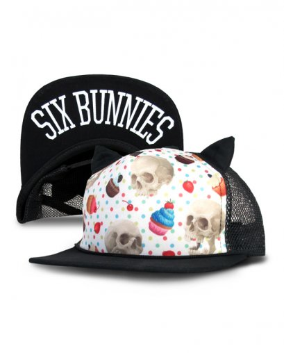 Six Bunnies CUPCAKE SKULLS Kids Accessories Hat.