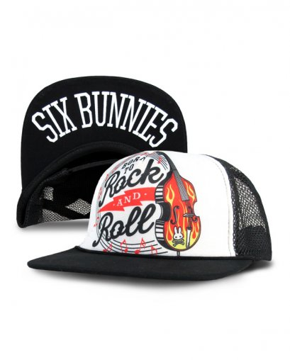 Six Bunnies BORN TO ROCK AND ROLL Kids Accessories Hat.