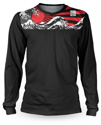 Loose Riders RISING SUN Men Jerseys Longsleeves