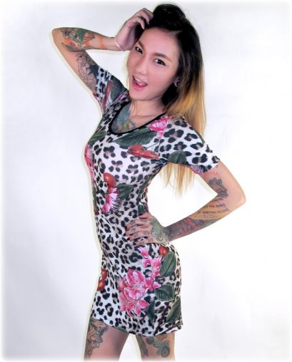 Liquor Brand LEO CHERRY BLOSSOM Women Dress.