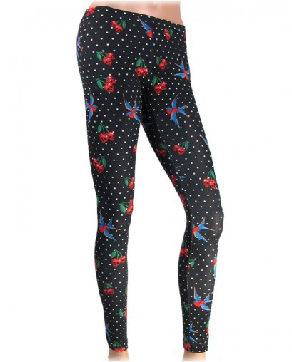 Liquor Brand CHERRIES SKULLS Women Leggings
