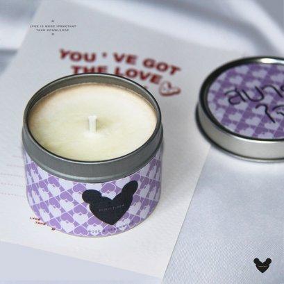 สบายใจ-Rose & Cedarwood Soy Wax Candle 4 ออนซ์