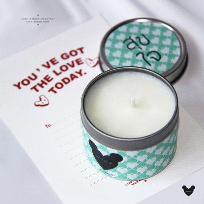 สุขใจ-Rose & Peony Soy Wax Candle 4 ออนซ์