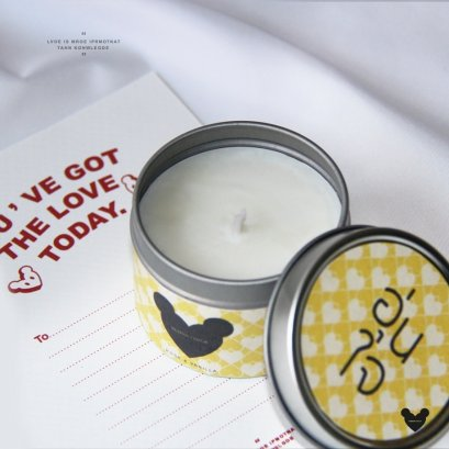 อุ่นใจ-Rose & Vanilla Soy Wax Candle 4 ออนซ์