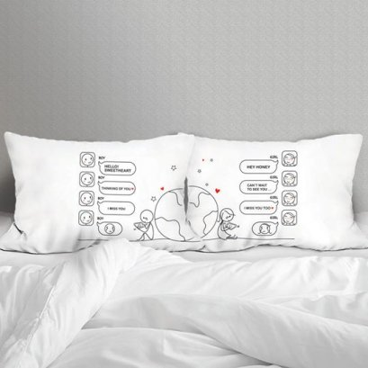TEXTING SET/2 PILLOW CASE
