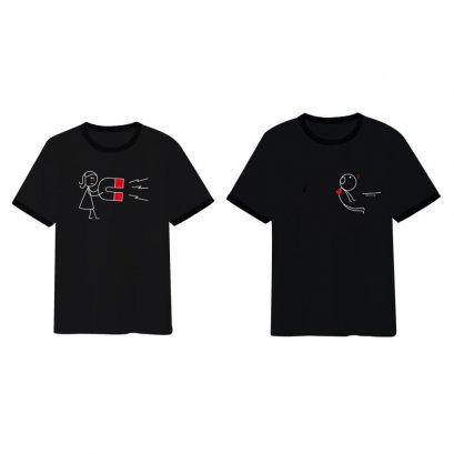 Magnet couple t-shirt