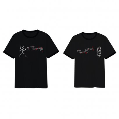 Love song couple t-shirt black