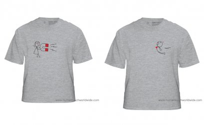 Magnet couple T-shirt gray