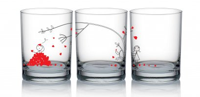 The Law of Gravity Glass Set/2