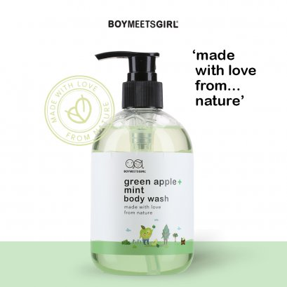 GREEN APPLE_MINT : Boy Meets Girl body wash 320ml.