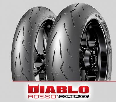 Pirelli DIABLO ROSSO CORSA II : 120/70ZR17+200/60ZR17
