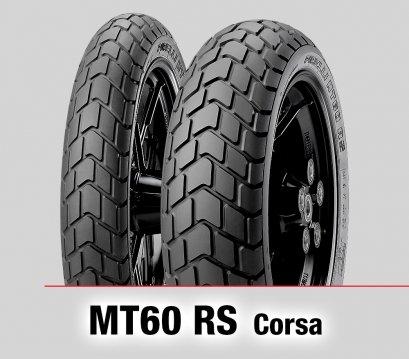 Pirelli MT60 RS : 120/70R17+160/60R17