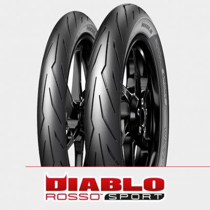 Pirelli DIABLO ROSSO SPORT : 80/90-17 + 90/80-17