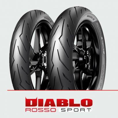Pirelli DIABLO ROSSO SPORT : 70/90-17 + 130/70-17