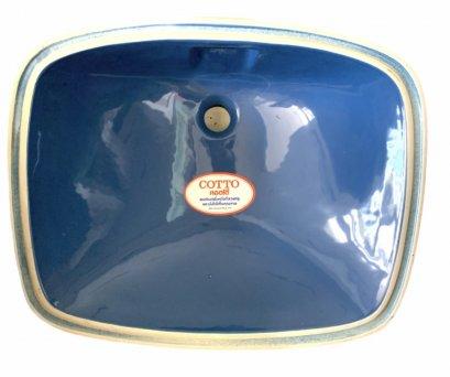 C051 อ่างล้างหน้าฝังใต้เคาน์เตอร์ ทรงเหลี่ยม รุ่น FREESIA [สีเทาเงิน สีน้ำเงิน ] - COTTO