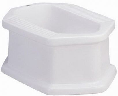 C201 สุขภัณฑ์ แบบนั่งยอง มีฐาน สีขาว - COTTO