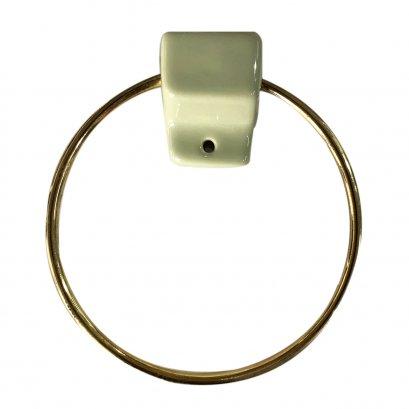 C808 ห่วงแขวนผ้า ห่วงทอง+หัวสีเขียวก้านตอง (GOLD RING) รุ่น STANDARD - COTTO