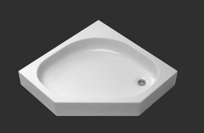 CT-8050 / CT8060 ถาดรองอาบน้ำเข้ามุม 90 /100 ซม. (Corner Diamond Tray) - CHRISTINA