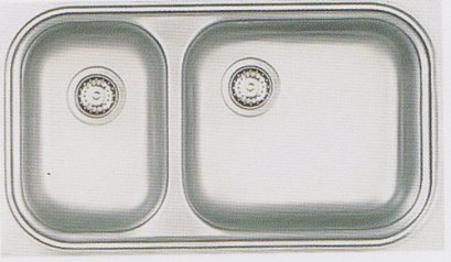 DM-086 BB/Cอ่างล้างจานสเตนเลส 2 หลุมตราเพชร