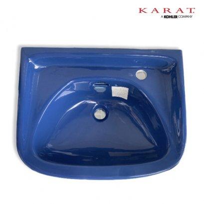K-1221 อ่างล้างหน้าแบบแขวน สีน้ำเงิน - KARAT