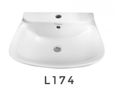 L-174 อ่างล้างหน้าแขวนผนัง สีขาว- Champion