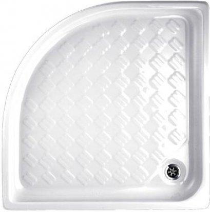 TF-7340 ถาดรองอาบน้ำเข้ามุม แบบลอยตัว + สะดือน้ำทิ้ง (CORNER SHOWER TRAY) - American Standard