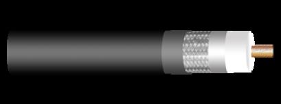 CCTV COAXIAL CABLE, RG-11/U, 95% SHIELD DOUBLE JACKET, ECONOMICAL DESIGN