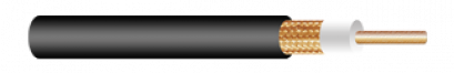 CCTV COAXIAL CABLE, RG-59/U, FLEX CONDUCTOR, 95% COPPER SHIELD