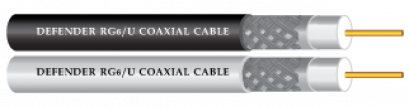 RG6/U COAXIAL CABLE Shield 128 Line White and Black  Jacket