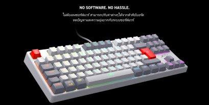 XTRFY K4 RGB Tenkeyless RETRO Edition, Mechanical gaming keyboard with RGB, US