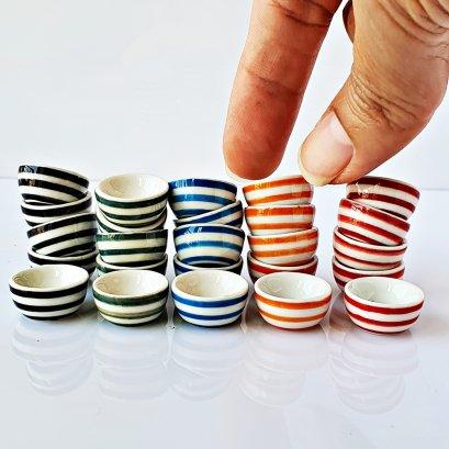 Dollhouse Miniatures Ceramic Tableware Hand Painted Bowl Mix Lot Set