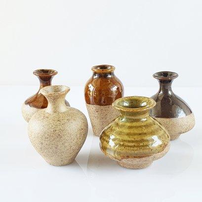 Dollhouse Miniatures Ceramic Vase Jar Pot Flower Supply Set 5 Pieces