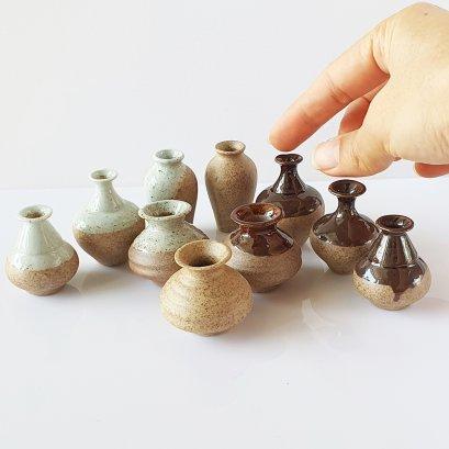 Dollhouse Miniatures Ceramic Vase Jar Pot Flower Supply Set 10  Pieces