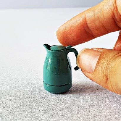 Dollhouse Miniatures Kitchenware Cookware Pitcher Jug Green Set