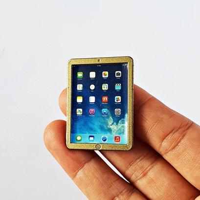 Dollhouse Miniatures Ipad Gold
