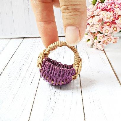 Dollhouse Miniatures Flower Basket