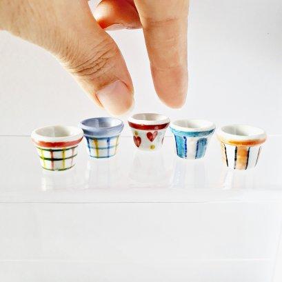 Dollhouse Miniatures Ceramic Vase Flower Garden Supply