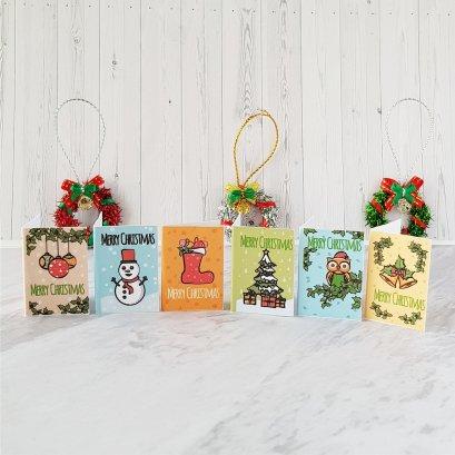 Dollhouse Miniatures Christmas Greeting Cards Mini Tiny