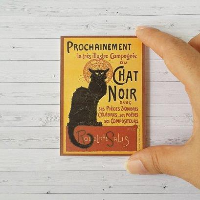 Black Cat Chat Noir Wooden Picture