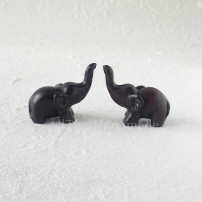 Dollhouse Miniatures Black Thai Elephant