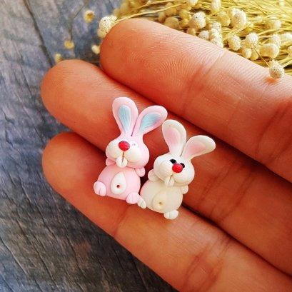 2x Rabbit Figurine Dollhouse Miniature Fairy Garden Decoration Christmas Gift (copy)