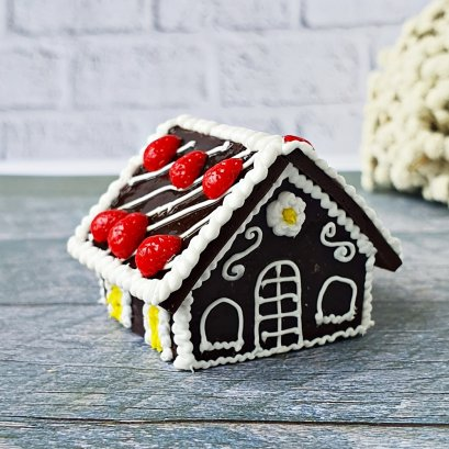 Dollhouse Miniature Christmas Gingerbread House Sweet Food Bakery X'mas Gift Set