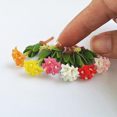 Dollhouse Miniatures Clay Flowers Colorful  Amayllis Fairy Garden Decoration Supply