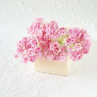 50Pcs Light Pink Gypsophila Gypso Mulberry Paper Flower
