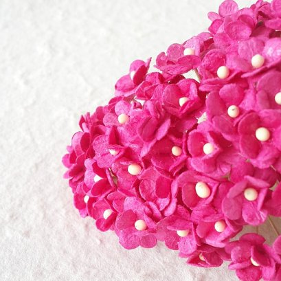 25 Pcs Pink Mulberry Paper Flower
