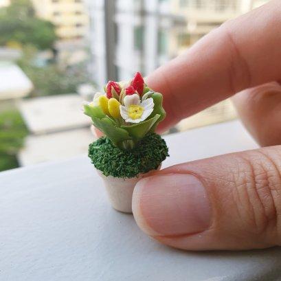 Mini Tiny Strawberry Dollhouse Miniature Fairy Garden Plants Decor