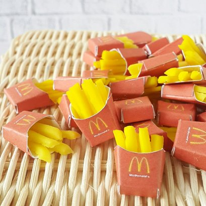 10x French Fries Potato Chips Dollhouse Miniatures Fast Food Supply