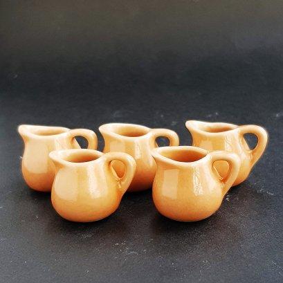 10x Ceramic Blue Floral Pitcher Jug Dollhouse Miniatures Kitchenware Wholesale