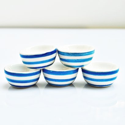 5x Ceramic Bowl Hand Painted  for Dollhouse Miniature Tableware Food Supply Decoration